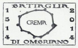 ANNULLO A TARGHETTA V CENTENARIO BATTAGLIA DI OMBRIANO