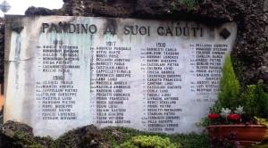 PANDINO AI SUOI CADUTI 1915-18