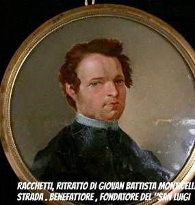 RITRATTO INEDITO DI GIOVAN BATTISTA MONTICELLI STRADA BENEFATTORE DEL SAN LUIGI.